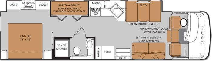 Floorplan Floor Plans Bunk House Camping World Rv Sales