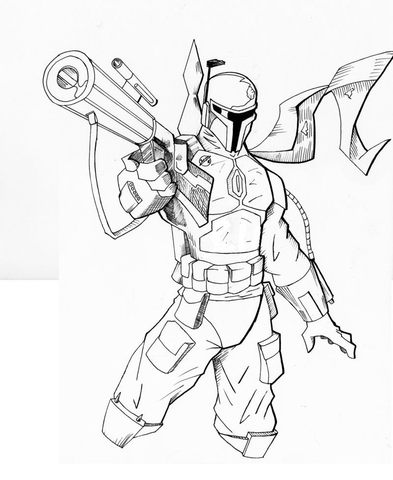boba fett coloring pages  free coloring pages free