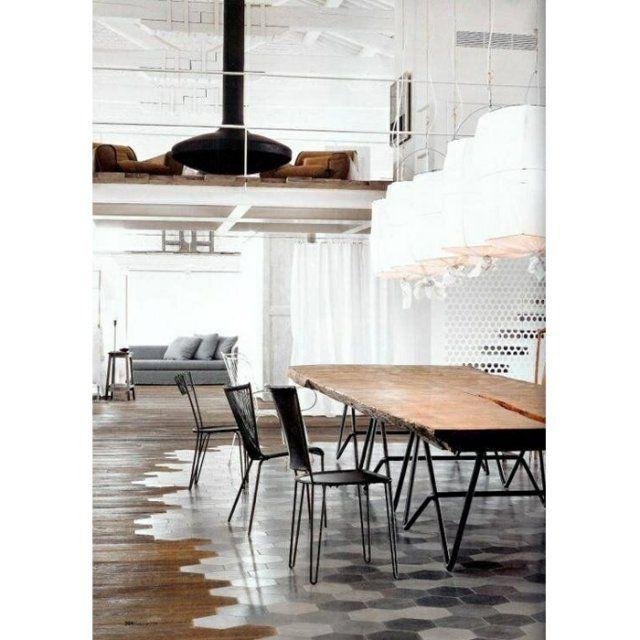 Les carreaux de ciment  Vous délimiterez l\u0027espace sans cloison - Idee Deco Maison De Campagne