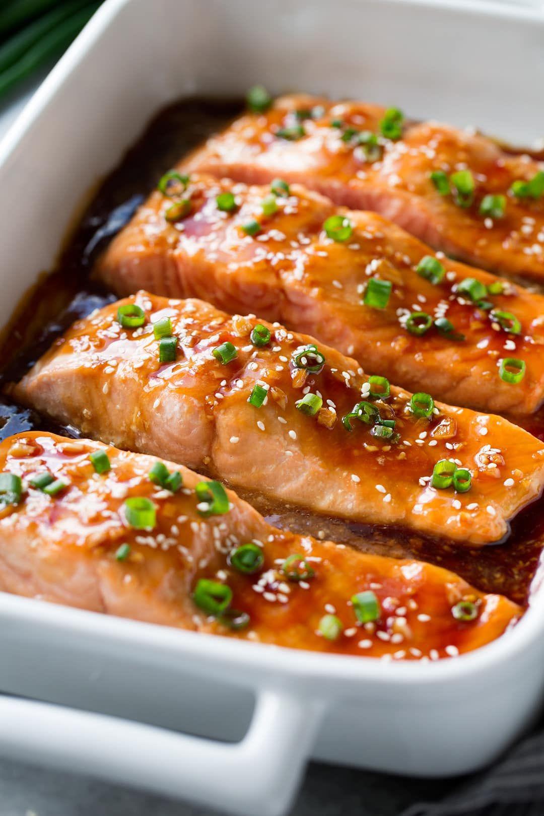 Teriyaki Salmon Recipe - Cooking Classy #teriyakisalmon