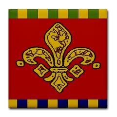 Fleur De Lis Ceramic Tiles Tile Coaster> Fleur De Lis Ceramic Tiles> New Orleans Fig Street Studio