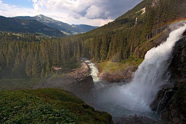 Austria's highest waterfall, Krimml Falls.