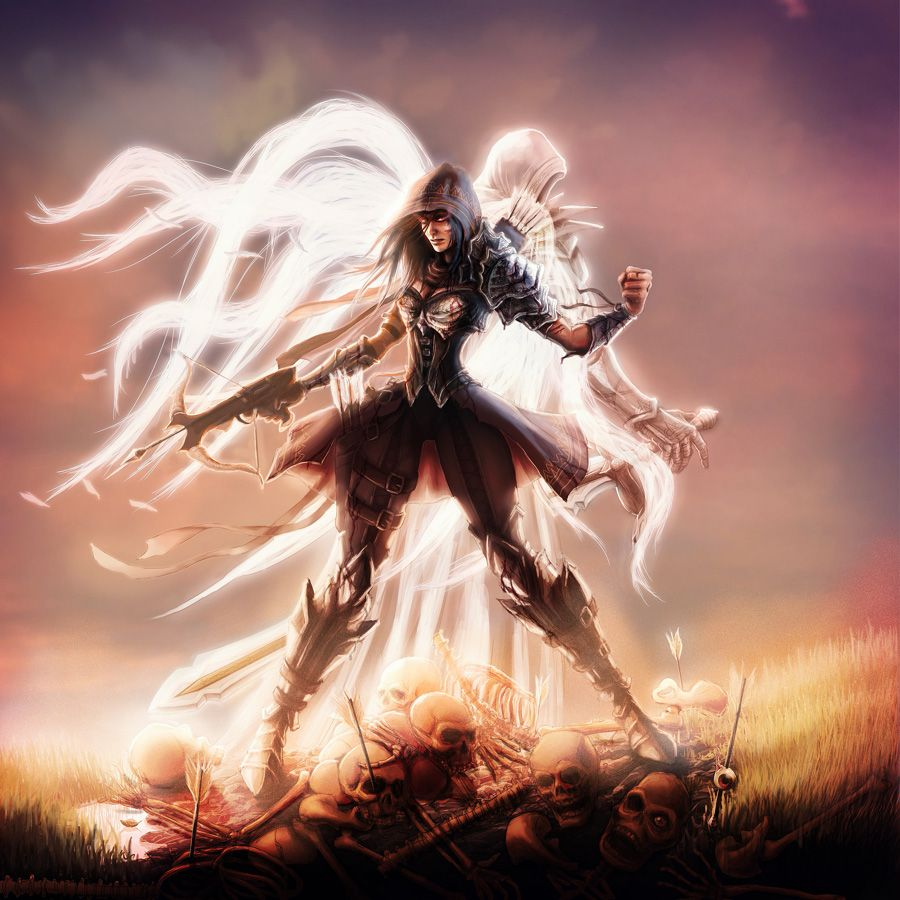 Demon Hunter And Tyrael By Me-illuminated On DeviantART