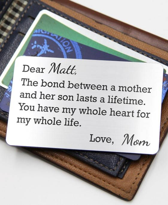 Personalized Wallet Card Insert Our Bond Son Graduation Gift