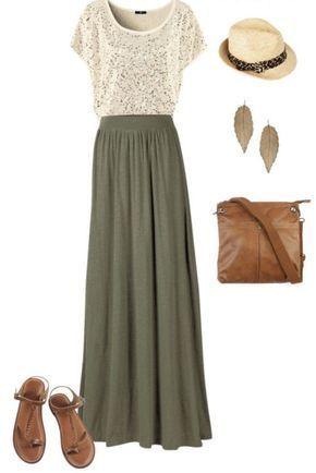 Spring outfits. Maxi skirt. Stitch fix inspiration. Try stitch fix :) personal s... #stitchfix