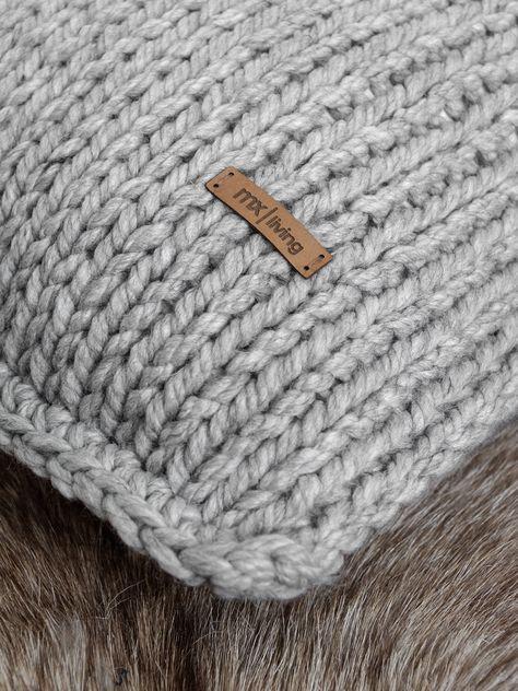 Grosse Maschen Kissenhuelle Stricken Dori Pinterest Knitting