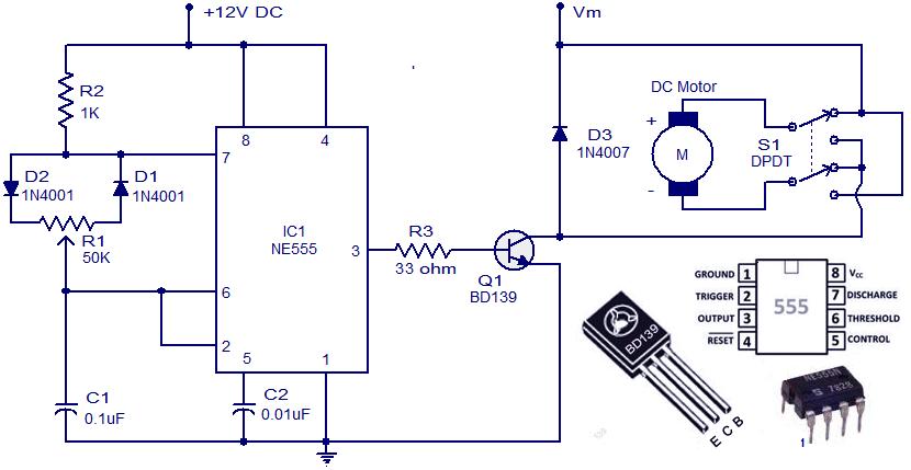 DC Motor Control Circuit Diagram   Electrical Engineering