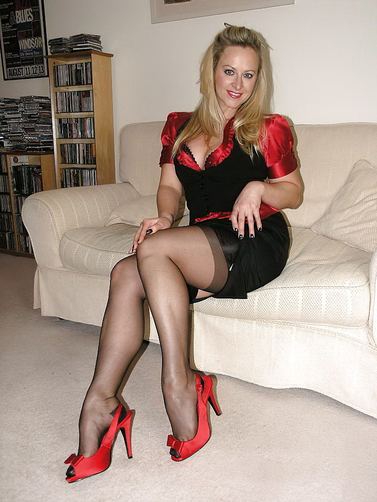 Great legs in stockings