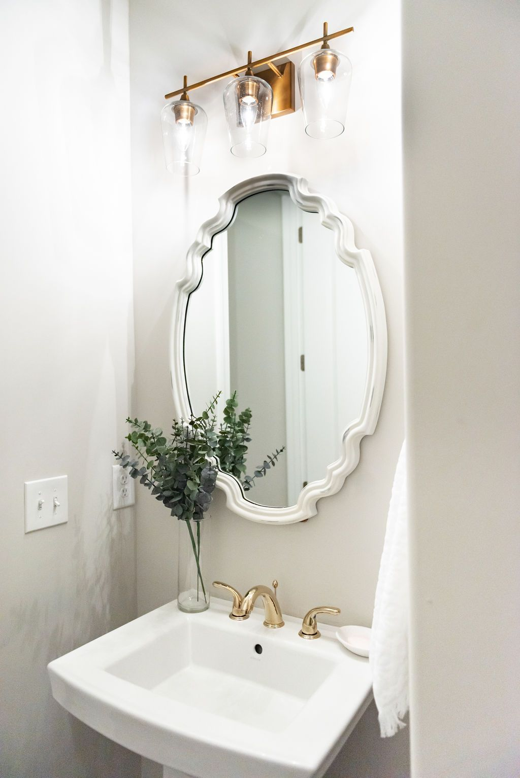 Half Bathroom Refresh with Home Depot | Home Ideas | Grey bathrooms on home library remodeling, kroger remodeling, home office remodeling, burger king remodeling,