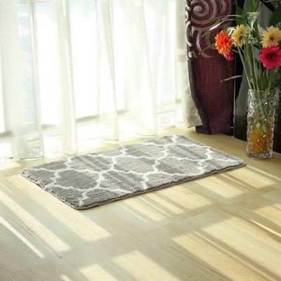 avesplit non slip absorbent microfiber bath mat soft shaggy bathroom rh pinterest com