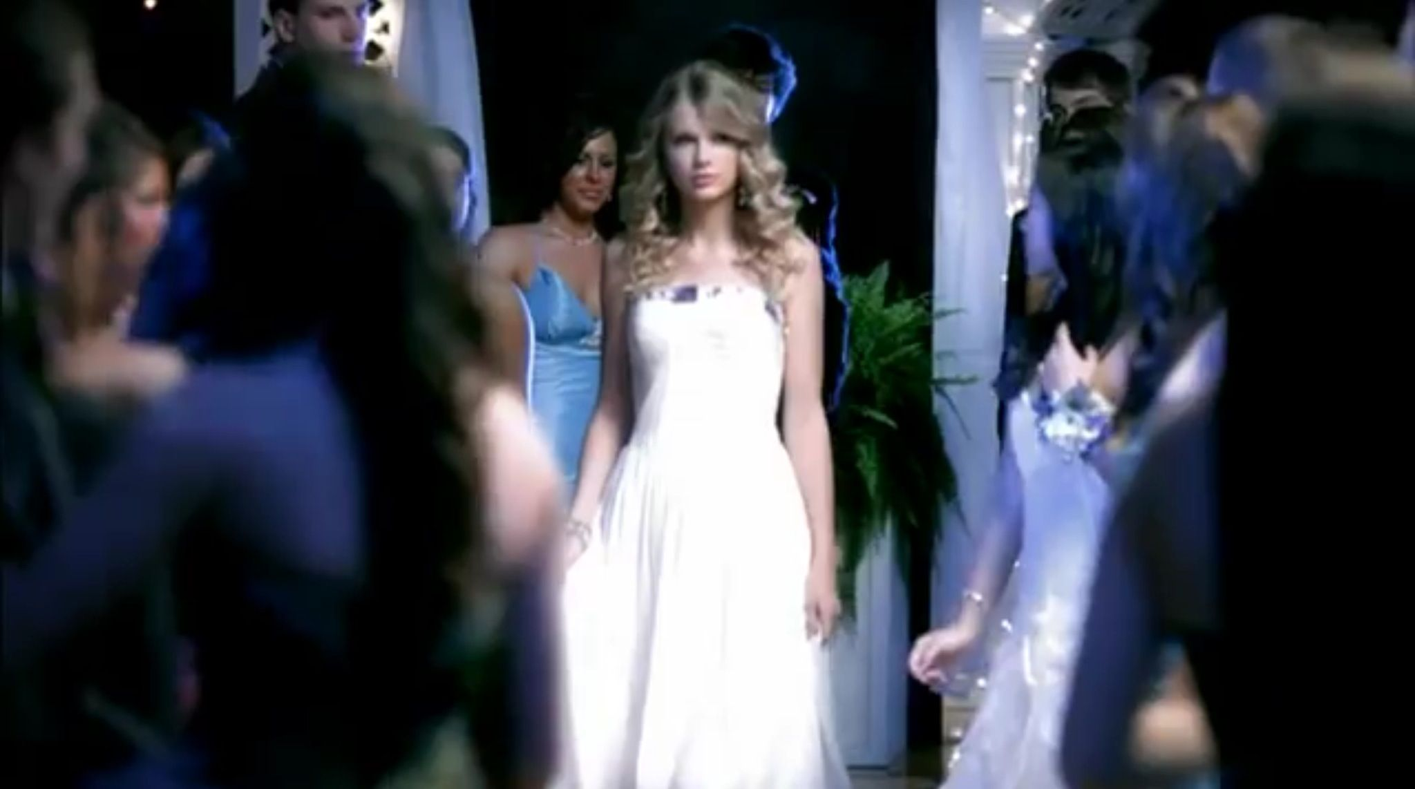 Taylor in a Jovani dress in her \
