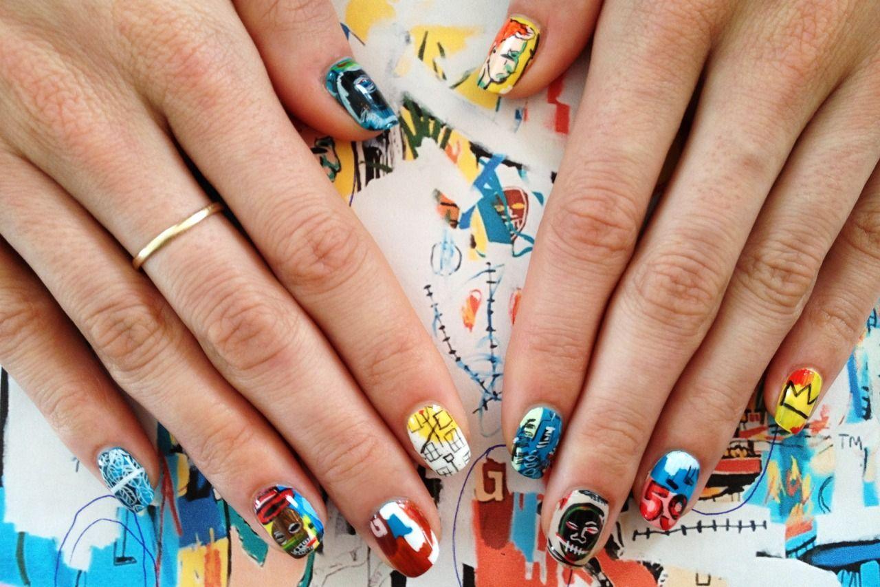 JEAN-MICHEL BASQUIAT X ANDY WARHOL inspired nail art history ...