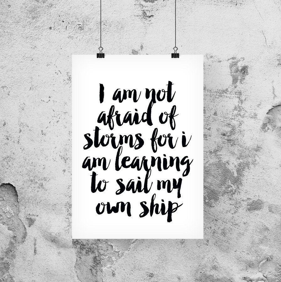 Nautical print, Printable quotes, Inspirational quote ...