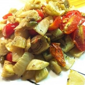 Fennel with cherry tomatoes