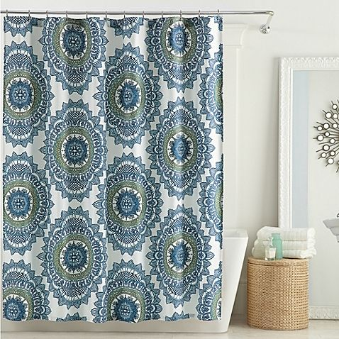 Transform Your Bathroom Into A Bohemian Retreat With The Stunning Bungalow Shower Curtain From Anthology Decorated Oversized Medallions This Charming