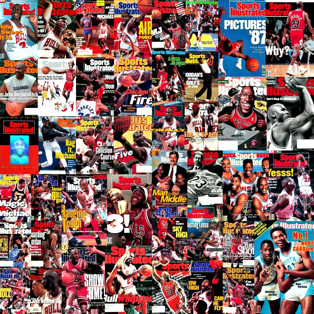 Michael Jordan Sports Illustrated Covers Collage Sports