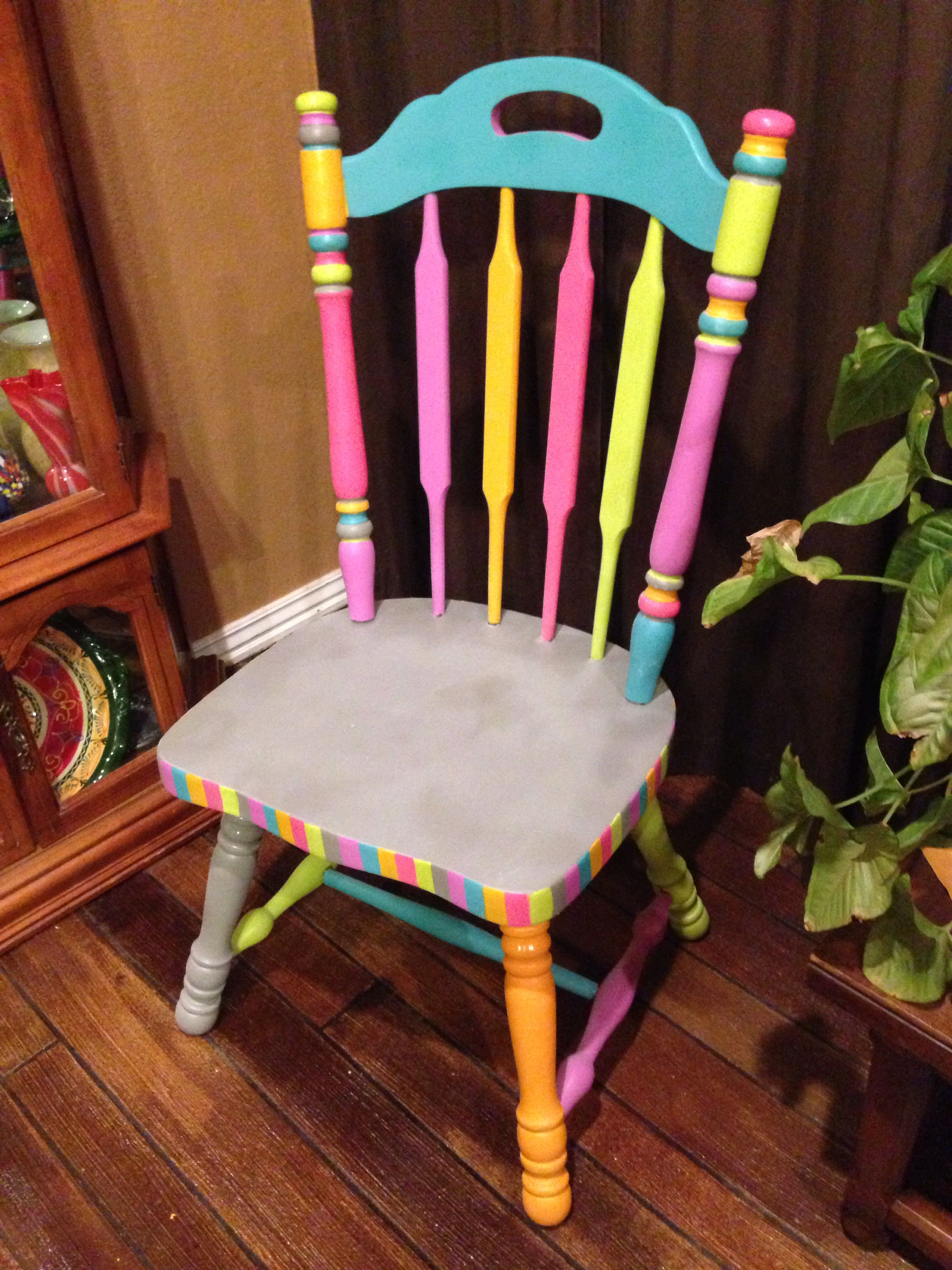 Free chair bright colored paint perfect teacher chair