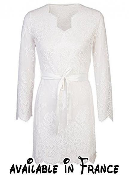 Sapph - Robe de chambre - Femme - blanc cassé - Small.  Apparel ... 34db9aef929