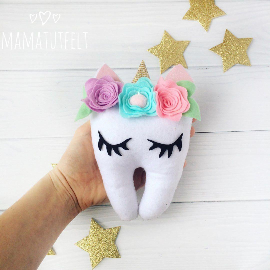 4b5d0ff4a0e68e Unicorn tooth fairy pillow Personalized tooth fairy pillow Tooth Keeper  dentist gift Stuffed Tooth fairy pillow Cute UNICORN ornament lashes