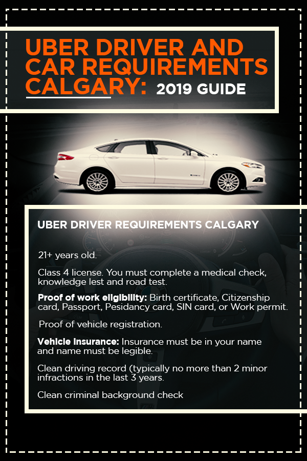 Uber Driver And Car Requirements Calgary 2019 Guide Uber Car Uber Driver Rideshare Driver