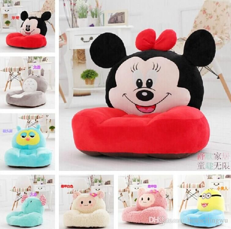 Cartoon Styles Kids Seating Bag Sofa Furniture Chair Soft Plush Fabric Beanbag Chairs Detachable Wash Tatami
