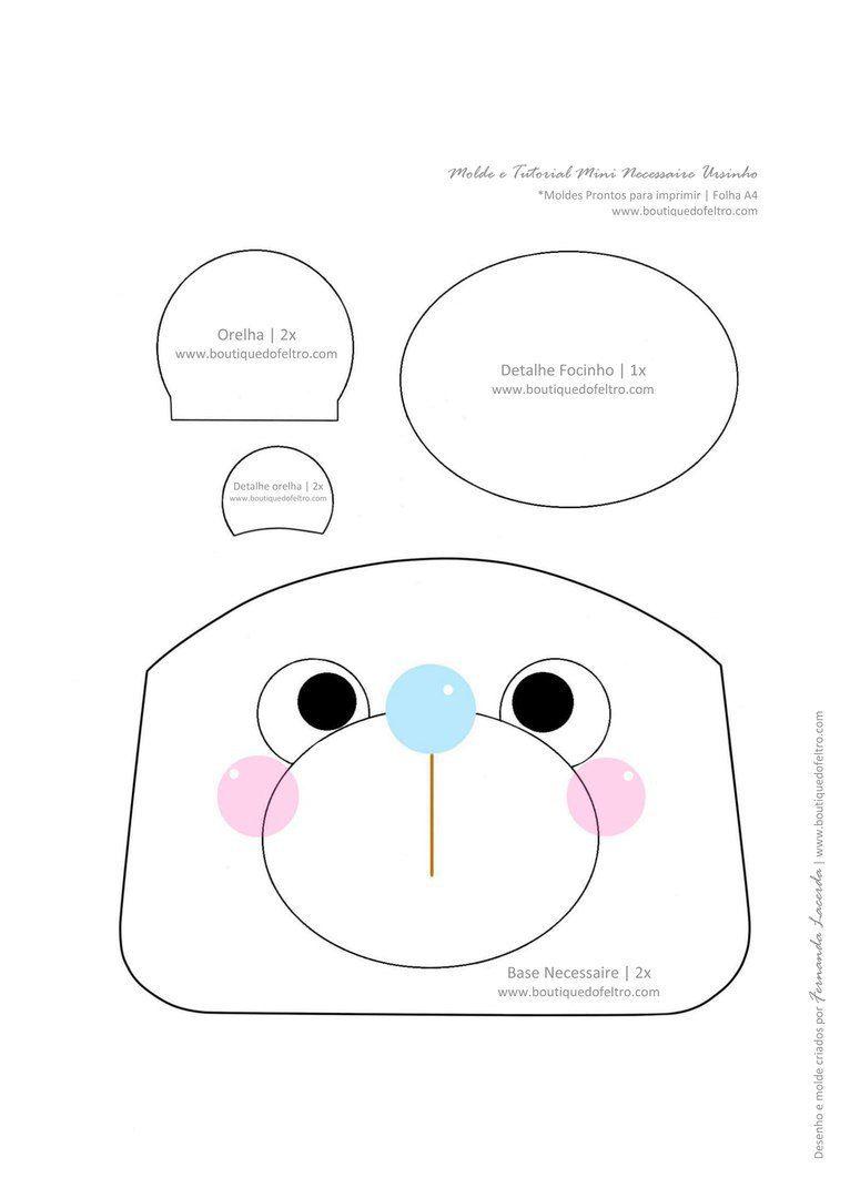 Moldes para hacer monederos creativos en fieltro - Ideas de ...