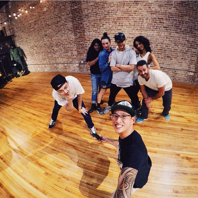 Picture from hip hop lessons with Misha Gabriel