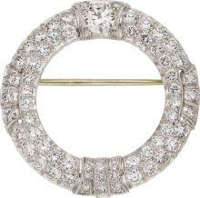 Art Deco Diamond, Platinum Brooch. ... (Total: 1 Items) Estate | Lot #58052 | Heritage Auctions