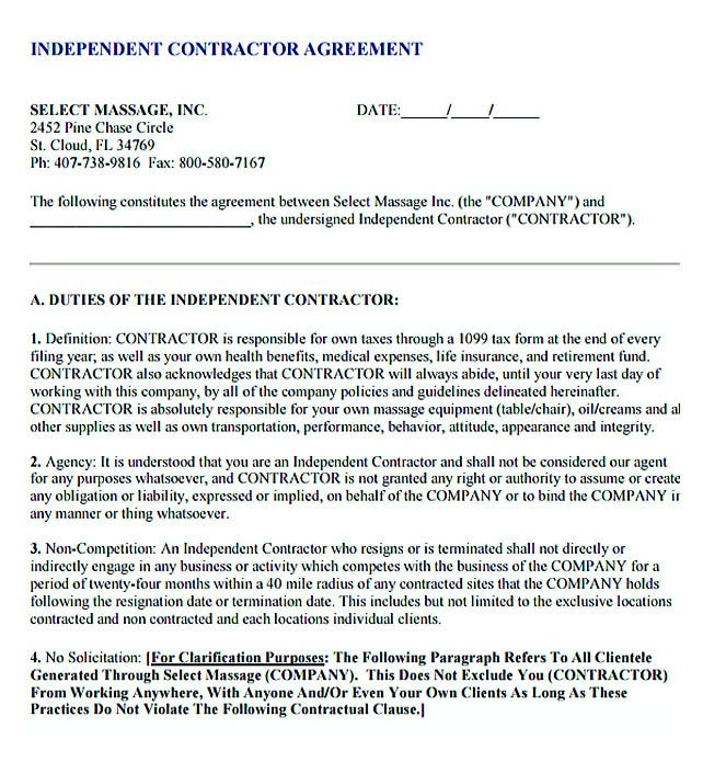 Sample Subcontractor Agreement Independent Contractor Agreement