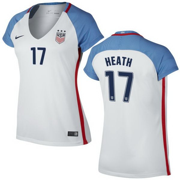 ed07bc9aca2 Tobin Heath Home Women's Jersey 2016 USA Soccer Team | tobin heath ...