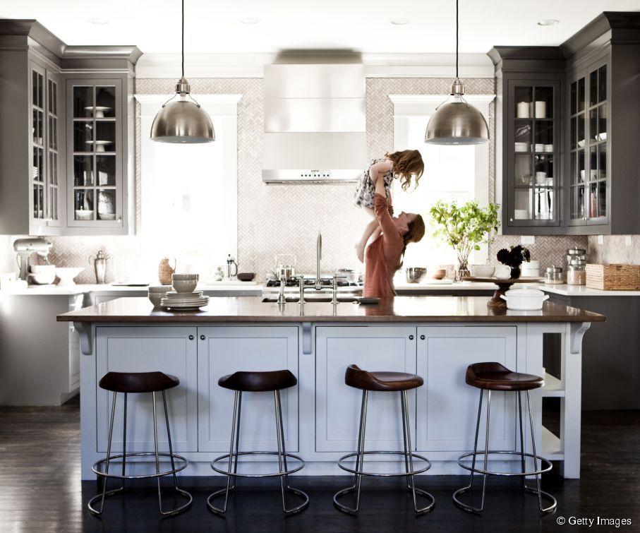 nos id es pas ch res pour cr er une cuisine am ricaine deco pinterest cuisine americaine. Black Bedroom Furniture Sets. Home Design Ideas