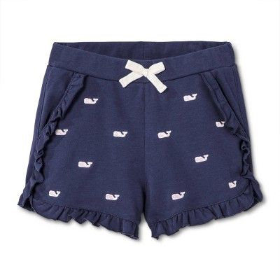 c322ba2b88db3 Girls' Embroidered Whale Shorts - Navy XS - vineyard vines for Target, Blue