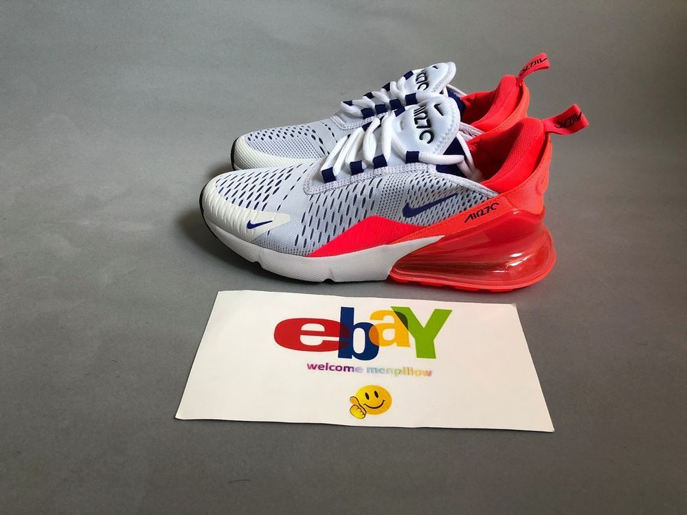 855033a519ec New WMNS Nike Air Max 270 AH6789-101 White Ultramarine Solar Red  Nike   RunningShoes