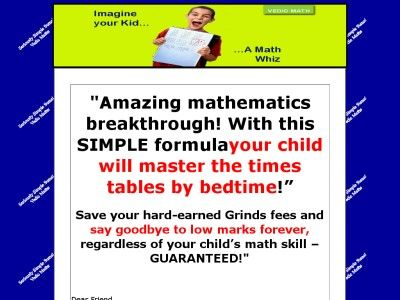 Vedic Maths Ebook Course Calculate Sums Fast Math For Kids