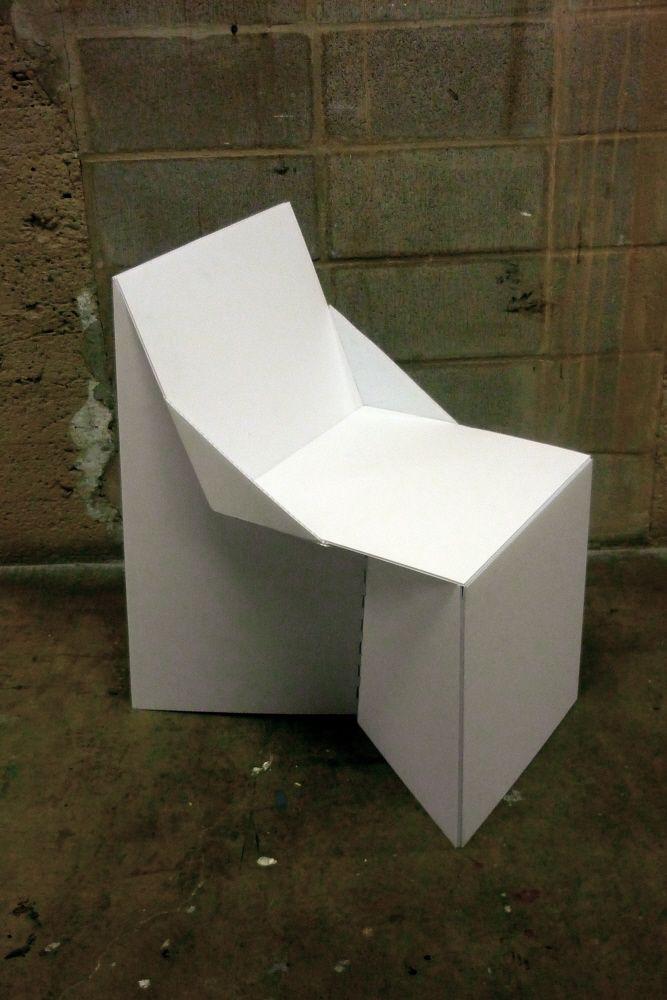 Coroplast Chair By Rebecca Cey At Coroflot Com Corrugated Plastic Sheets Corrugated Plastic Corrugated