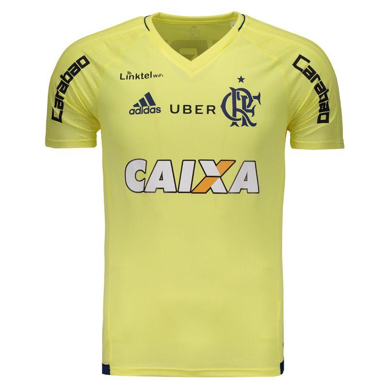 f65f67dbb6 Camisa Adidas Flamengo Treino 2017 Amarela Com Patrocínio Somente na  FutFanatics você compra agora Camisa Adidas