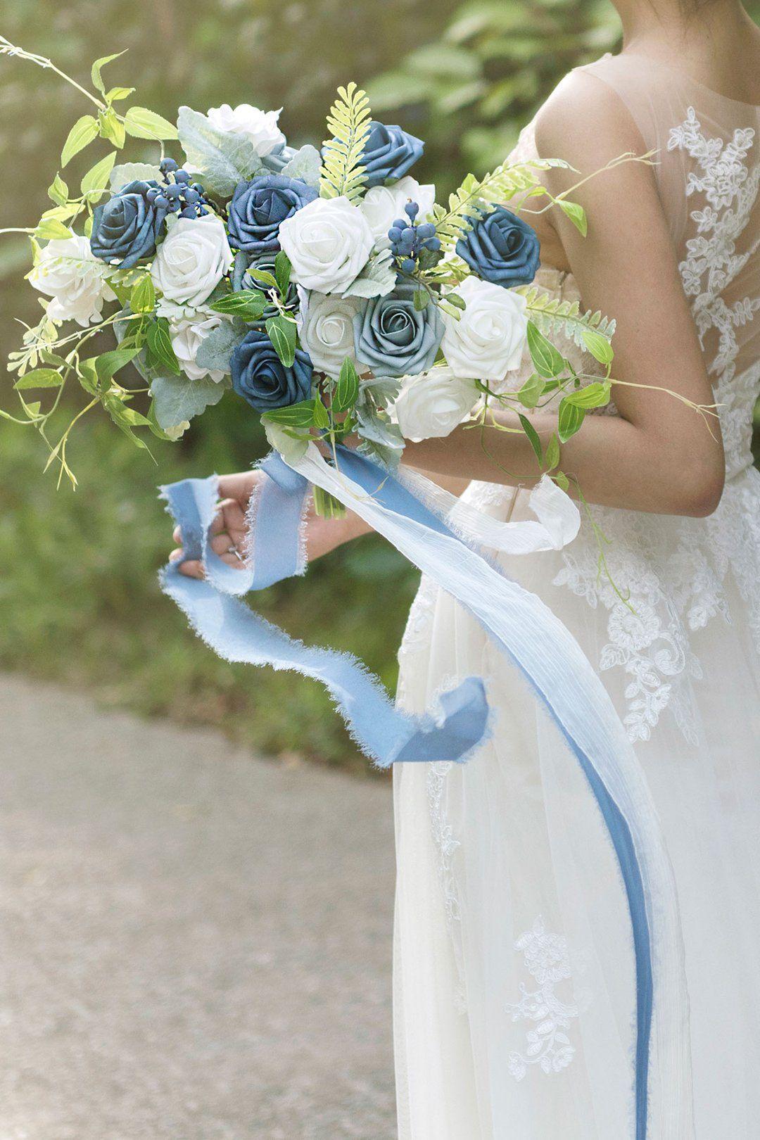 Dusty blue flowers box set 17 styles in 2020 bridal
