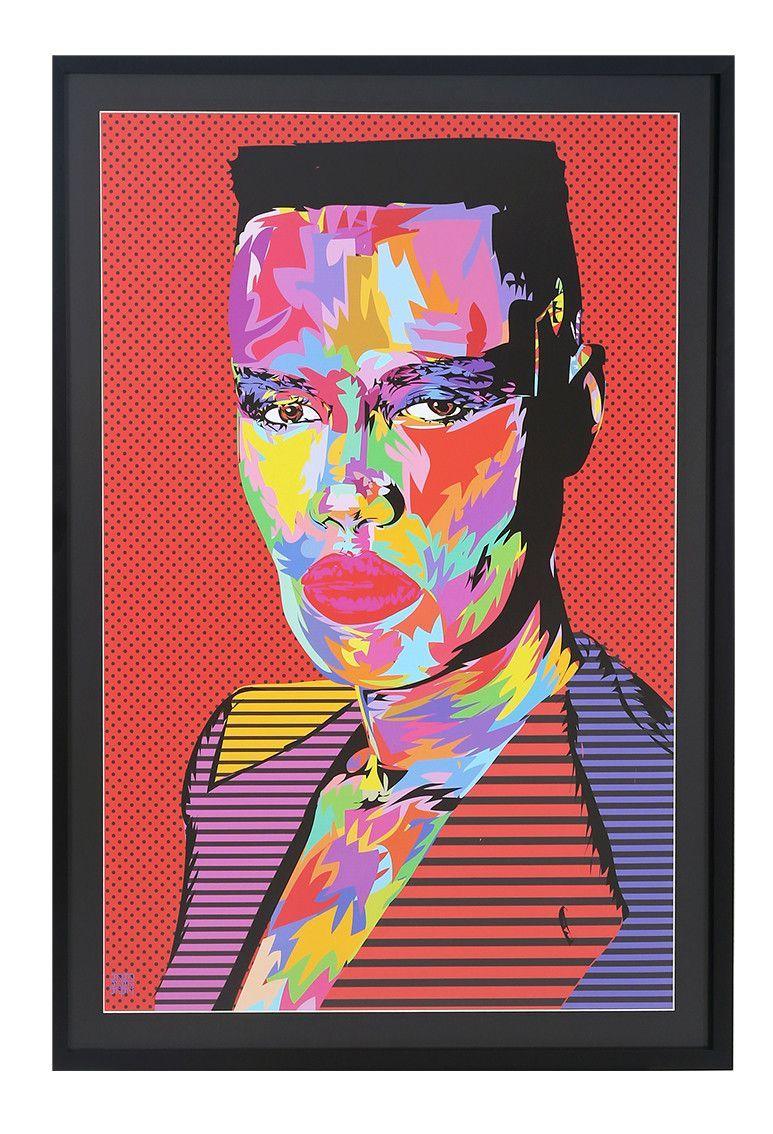 Grace Jones #art #gracejones #popart #portraits   *framed
