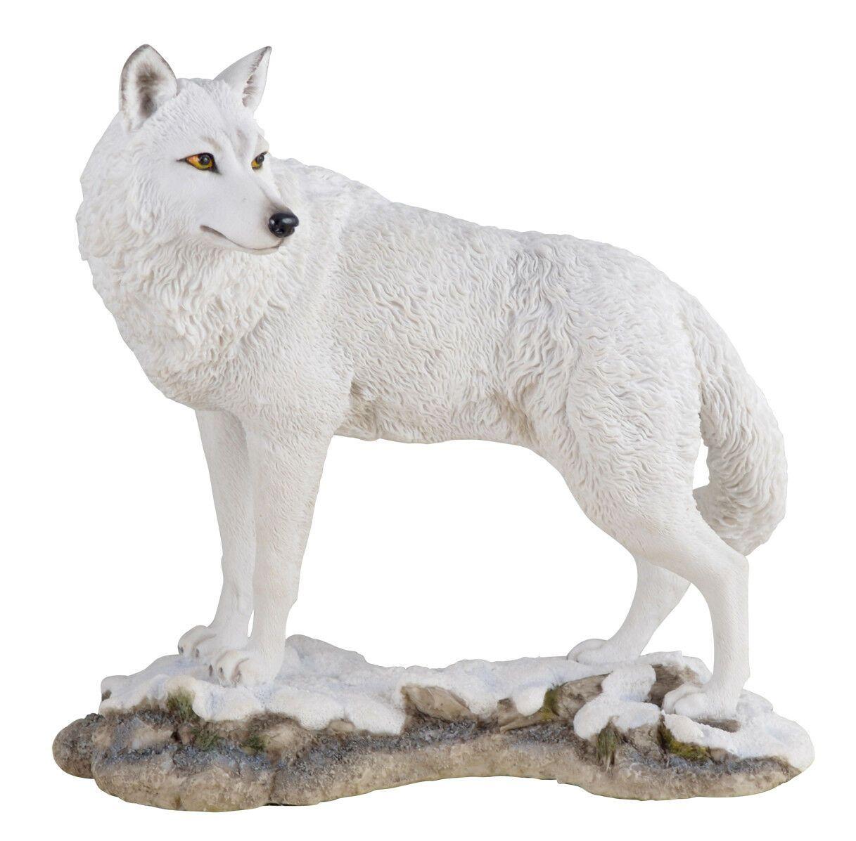 Polarwolf Im Schnee Figur Deko Dekoration Wolf Tierfigur Skulptur In 2020 Skulpturen Tierfiguren Polarwolf