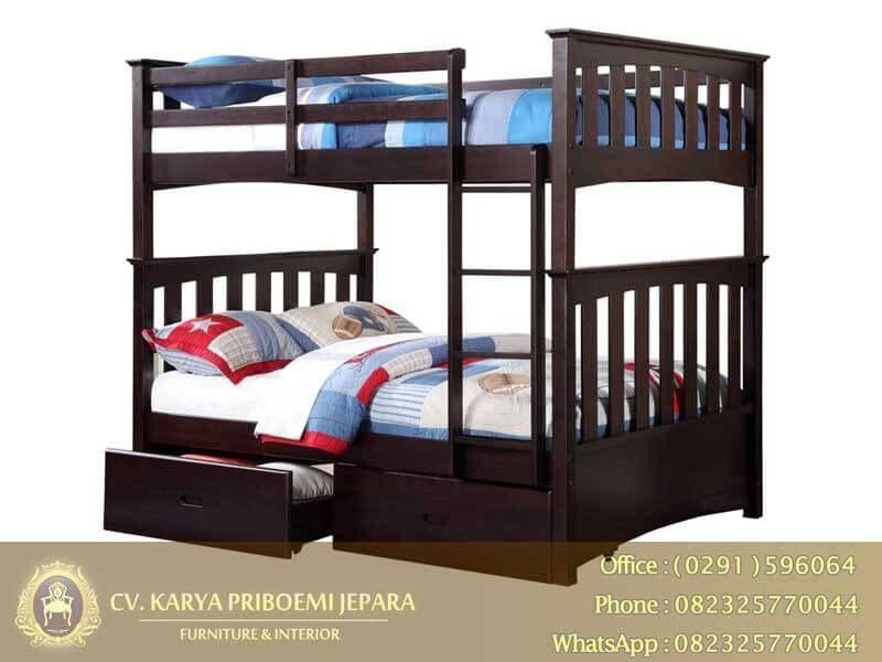 Tempat Tidur Tingkat Minimalis Kayu Jati Tempat Tidur