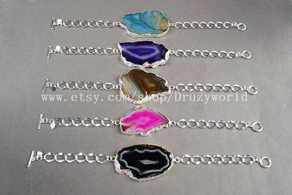Freeform Natural Onyx Agate Druzy Geode Slice by Druzyworld