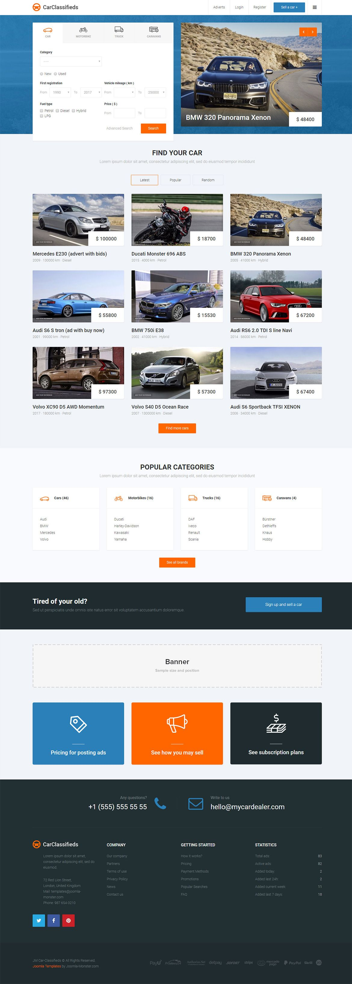 JM Car Classifieds - template for Joomla 3.x The template is based ...