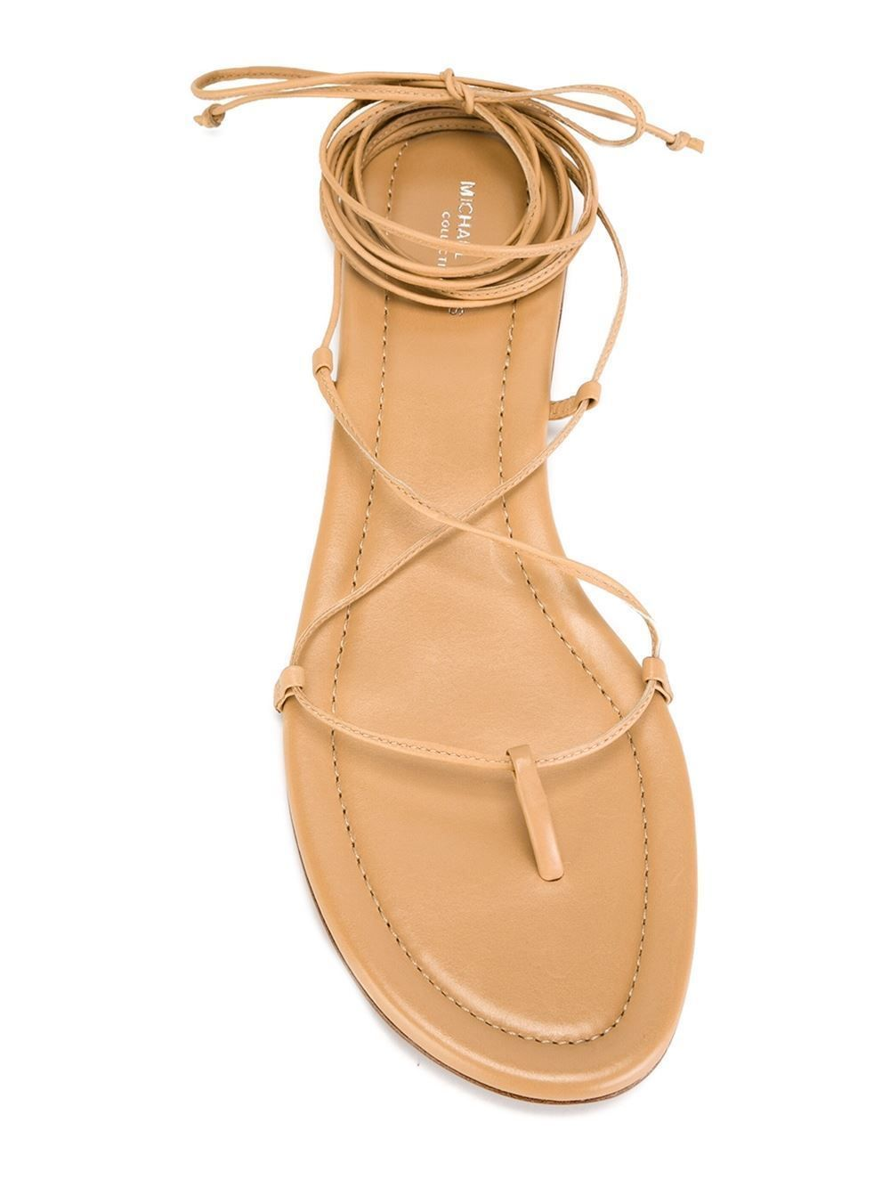 8793b3855131 NEW MICHAEL KORS COLLECTION BRADSHAW LACE UP GLADIATOR FLAT SANDALS SANDAL  sz 42 889407968614