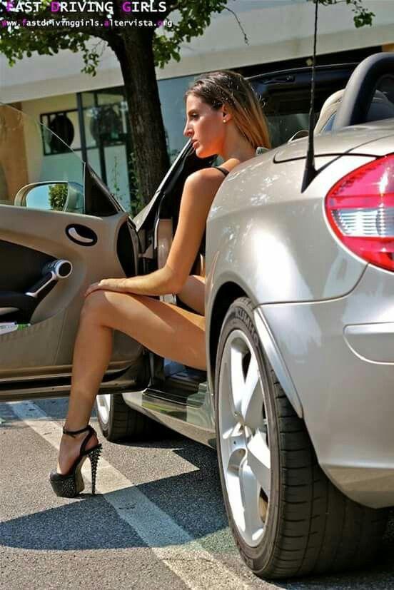 Fast Driving Girl Sarah Mercedes Slk Car Ariel Meredith