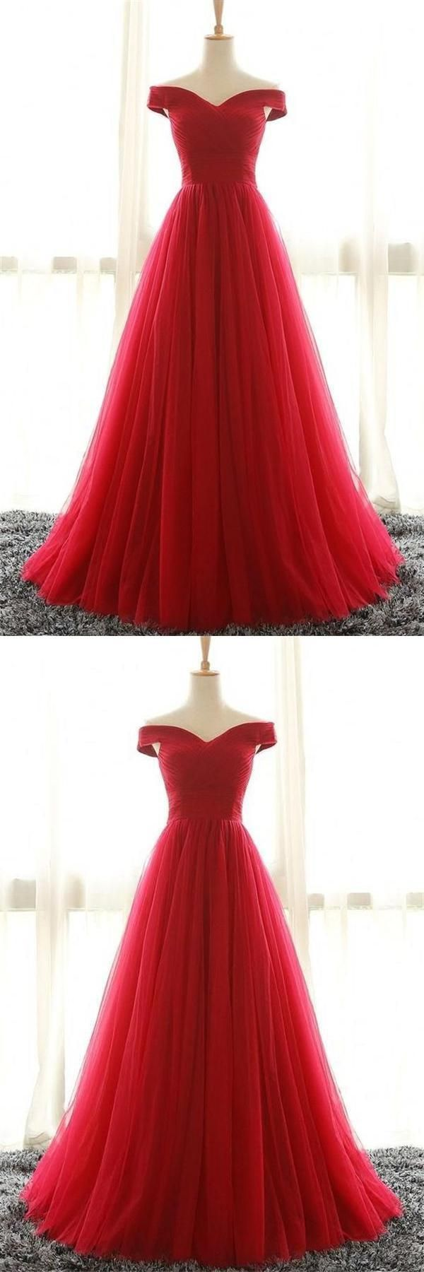 Pleated prom dresses red alineprincess prom dresses long red