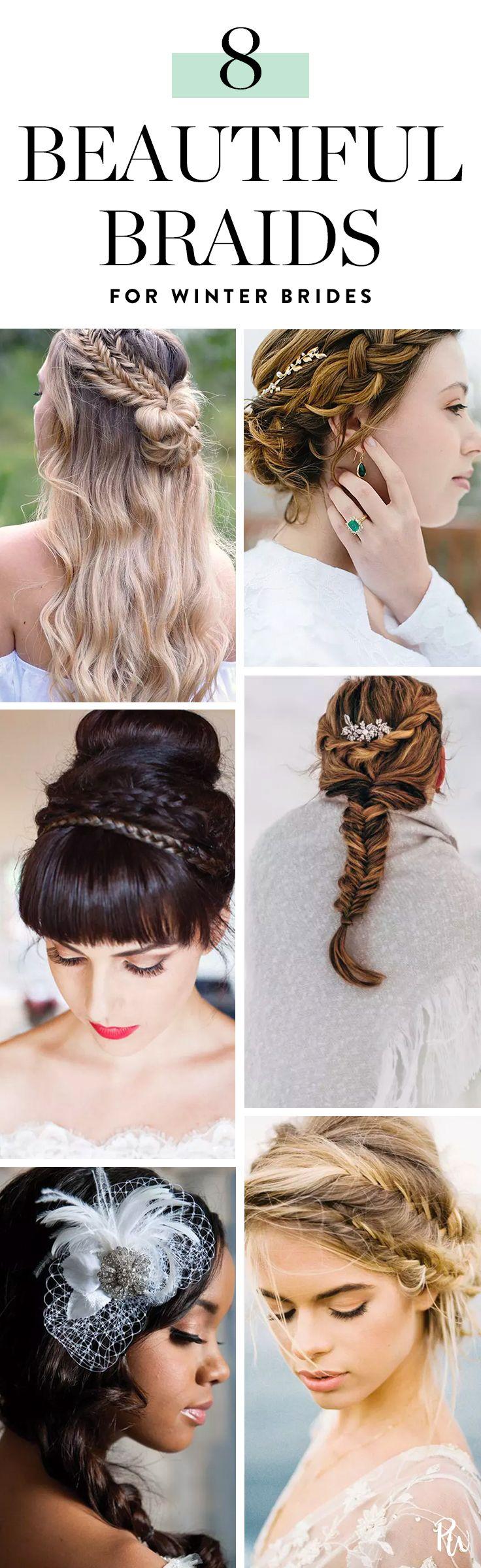 braid ideas for winter brides beauty pinterest braid