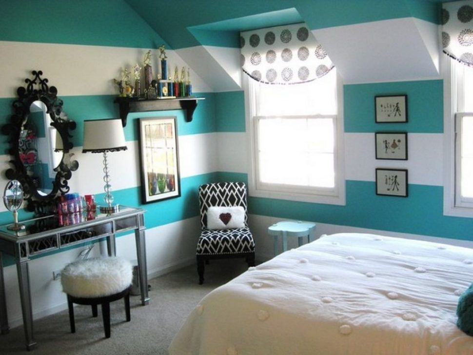 Girls Bedroom Paint Ideas Stripes bedroom:impressive teenage girl bedroom with dressing table and