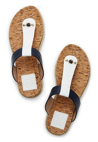 f0c0bec47 Tory Burch Cork-Footbed Flat Thong Sandal