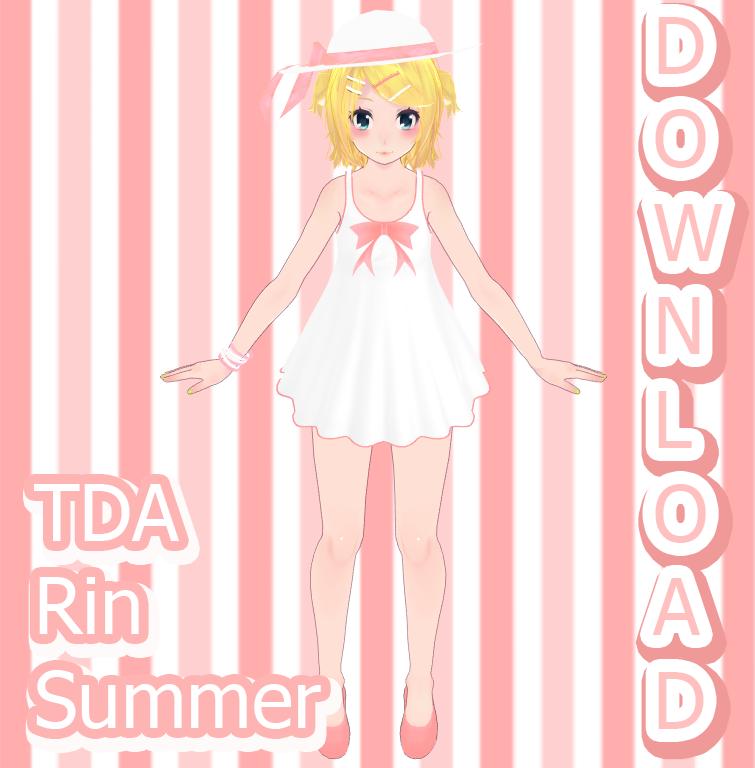 TDA Rin Summer Download by Yuu2002 Rin, Summer, Vocaloid