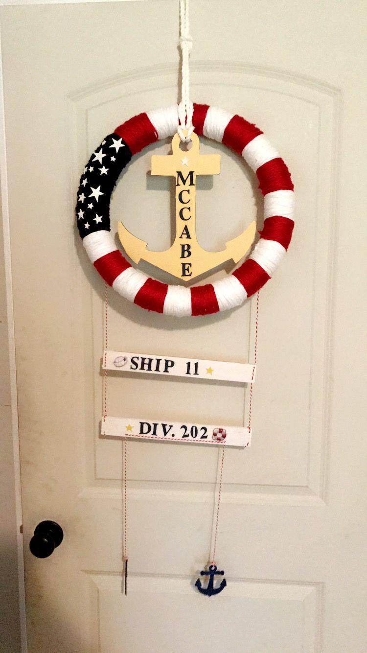 Pir Door Hangers Us Navy Boot Camp Graduation Navy Mom Navy Boot
